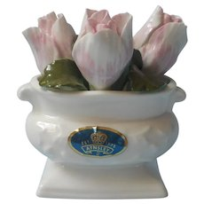 Tulips Bone China Arrangement Vintage Aynsley Pink White Green