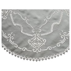 1920s Cutwork Lace Centerpiece Doily Hand Embroidery Vintage