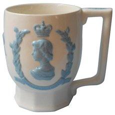 Wedgwood Coronation Mug Cup Queens Ware 1953 Elizabeth
