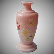 Pink Bristol Glass Bottle Antique As Is