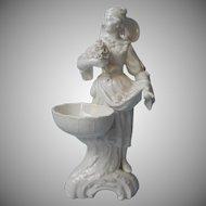 KPM Blanc De Chine Figurine Woman Basket Flowers