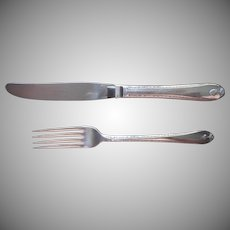 Exquisite 1940 Youth Knife and Fork Vintage Silver Plated
