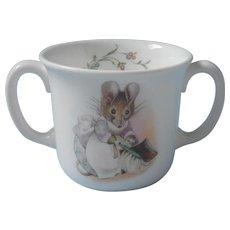 Hunca Munca Royal Albert Two Handle Child's Cup Mug Vintage