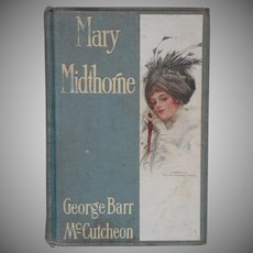 Antique Book Pretty Cover Mary Midthorne by George Barr McCutcheon