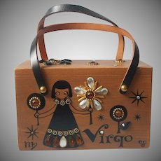 Enid Collins Box Purse Zodiac Virgo Vintage