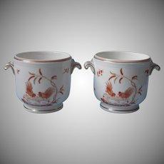 Pair Ginori Galli Rossi Cachepot Cachepots Vintage