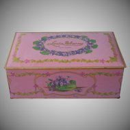Chocolate Tin Violets Vintage Louis Sherry 2 Lb