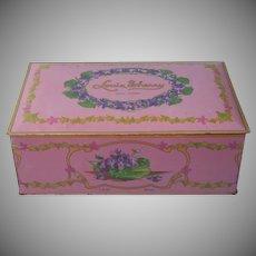Chocolate Tin Violets Vintage Louis Sherry 2 Lb