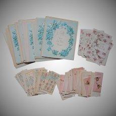 ca 1960 Shower Gift Cards Wedding Gift Vintage Cards