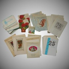 ca 1960 Greeting Cards Christmas Cards For Nuns Anniversary Birthday Wallet Etc