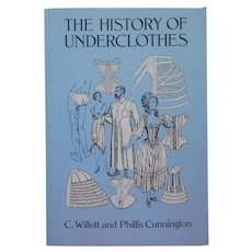 Book The History Of Underclothes Willett Cunnington 1992 Reprint