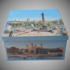 Big Biscuit Tin Elkes London Scenes Trafalgar Square Vintage 4.5 Lbs