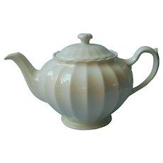 Pale Aqua 1950s Vintage Teapot China Fluted Crazing