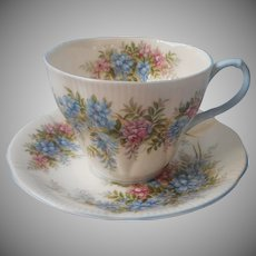 Royal Albert Wisteria Blossom Time Series Cup Saucer Vintage English