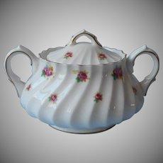 Royal Doulton Rosebud Sugar Bowl w Lid Vintage Bone China Roses