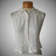 Vintage Lace Sleeveless Blouse 1940s European Size 4