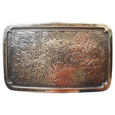Belt Buckle Handsome Engraving Vintage Faux Silver Heavy