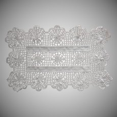 Antique Lace Tray Doily Rectangular Bobbin Linen Inserts