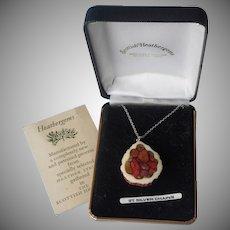 Scottish 1970s Heathergems Sterling Chain Pendant Necklace Vintage Heather Stems
