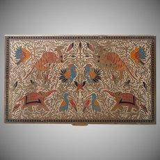 Volupte Cigarette Case Vintage Exotic Animals Use For Big Business Cards
