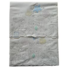 Madeira Pillowcases Unused Vintage Appliqued Hand Embroidery