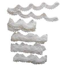 Lace Trim Crocheted For Pillowcases Sheets Vintage 1920s