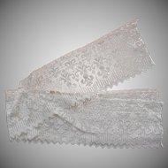 Antique Lace Wise Trim Yardage Faux Filet Net Cotton Chemical