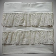 Pillowcases Alencon Lace Trim Unused Cotton Vintage 1950s