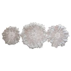 Super Frilly Crocheted Lace Centerpiece Doilies Doily Vintage