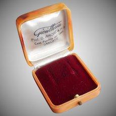 Italian Earrings Box Vintage Hard Plastic Jeweler Presentation