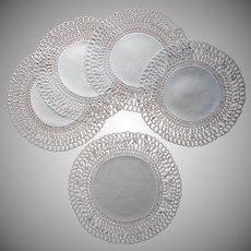 Tatted Lace Linen Luncheon Doilies Antique Set 4 w Centerpiece