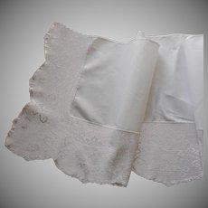 Antique False Sheet Top Deep Filet Crocheted Lace