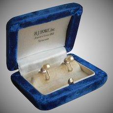 Cultured Pearl Sterling Silver Earrings Vintage Trifari Screw Back