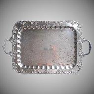 Large Tray Silver On Copper Grapes Vintage Handles Serving Tea Set TLC