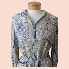 Vintage 70s Maxi Dress Lurex Sweater Knit Ribbed 10 Medium