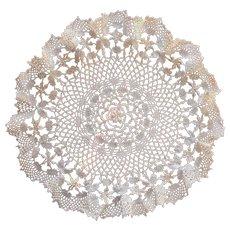 Antique Turtle Braid Crocheted Lace Centerpiece Doily