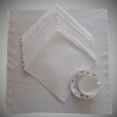 Damask Napkins 11 Antique Linen Lily Of The Valley