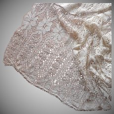 Antique Curtain Heavy Lace Machined Bobbin Natural Color