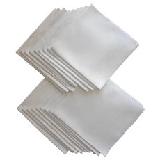 18 Damask Napkins Misc Weave Motifs Antique Table Ready