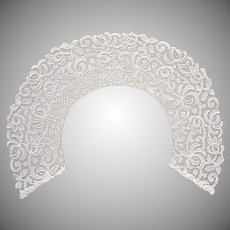 Lace Collar Vintage 1920s Delicate Chemical Lace