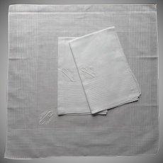 Men's Monogram C Set 3 Unused Handkerchiefs Hankies Cotton