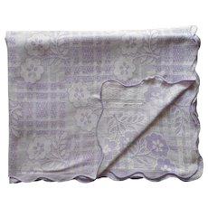 Bates Lavender Purple Vintage Coverlet Bedspread Woven Cotton