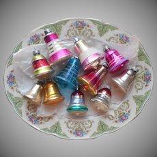 Shiny Brite Etc Vintage Glass Christmas Tree Ornaments 11 Bells