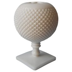 Ivy Ball Vase Westmoreland Milk Glass Vintage English Hobnail
