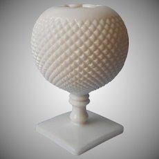 Ivy Ball Vase Westmoreland Milk Glass Vintage English Hobnail