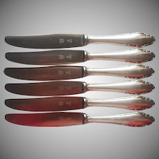 Wellner WLN39 Luncheon Knives Vintage German Silver Plated 4