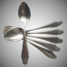 Coffee Spoons European 5 O'Clock Wellner WLN39 Silver Plated Vintage