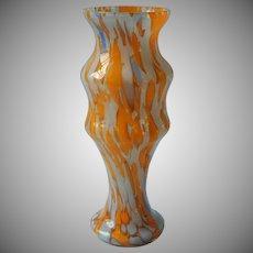 Bohemian Spatter Art Glass Vase Vintage Art Deco Period