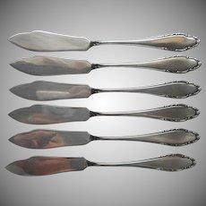 Wellner WLN39 Fish Knives Vintage European German Silver Plated 6