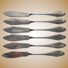 Wellner WLN39 Fish Knives Vintage European German Silver Plated 6